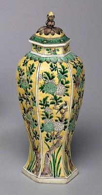 Hexagonal Covered Jar