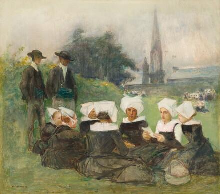 Study for Breton Women at a Pardon