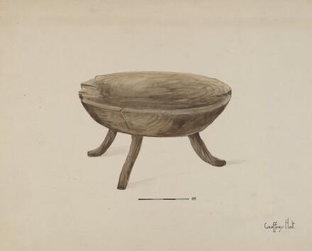 Old Wood Stool
