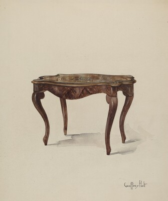 Marquetry Table, Showing Style