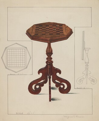 Checker-board Table-tilt Top