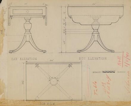 Drop Leaf, Pedestal Table
