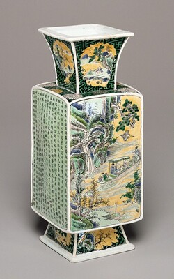 Rectangular Vase Illustrating Poems by Tao Qian and Su Shi