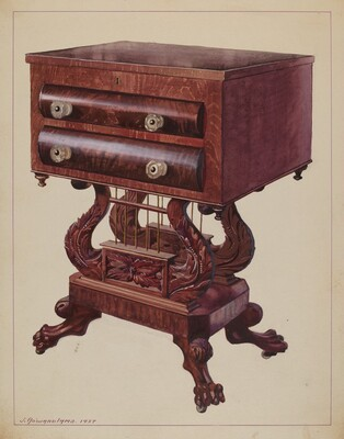Table - Double Lyre Base