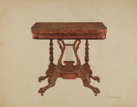 Table (Lyre Pedestal)