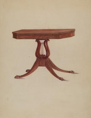 Table (Lyre Pedestal)