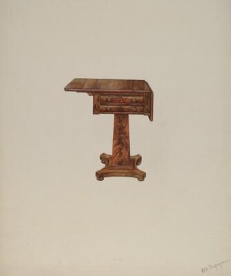 Mahogany Sewing Table