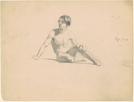 Seated Male Nude [recto]