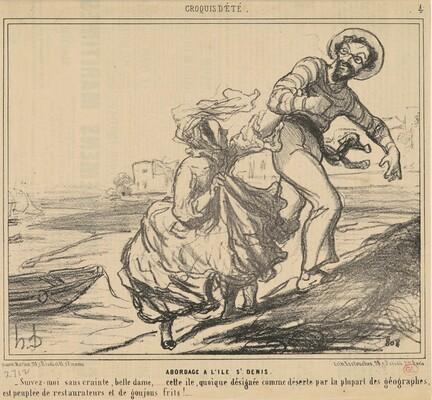 Abordage a l'ile Saint-Denis