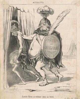 Achille Vèron se retirant sous sa tente