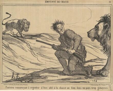 Parisien commencant a regretter ... la chasse au lion ...
