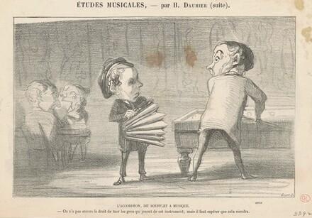 L'accordéon, dit soufflet a musique