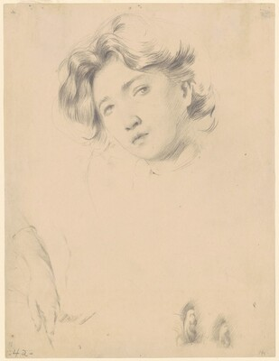 Three Studies: Head of a Girl, a Hand, Two Ears