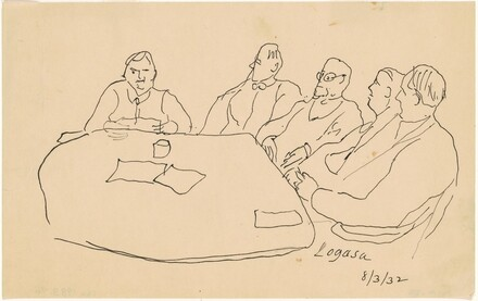 Five Men Seated at a Table