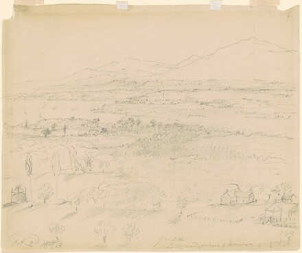 View of a Valley with a River and Mountains