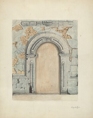 Stone Doorway, Carved