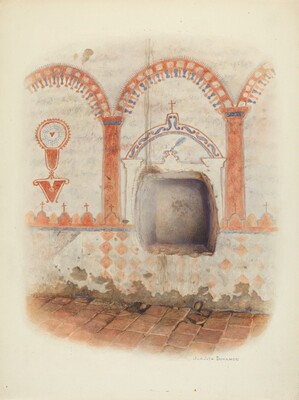 Wall Painting and Baptismal Niche