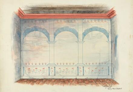Restoration Drawing: Wall Painting