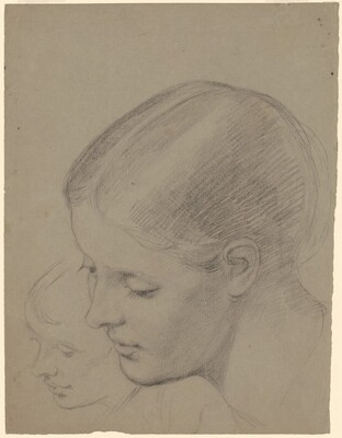 Two Studiess of an Ideal Female Head [recto]