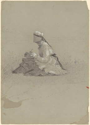 Seated Young Lady, Writing