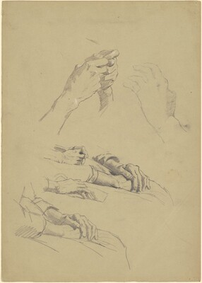 Six Studies of Hands [recto]