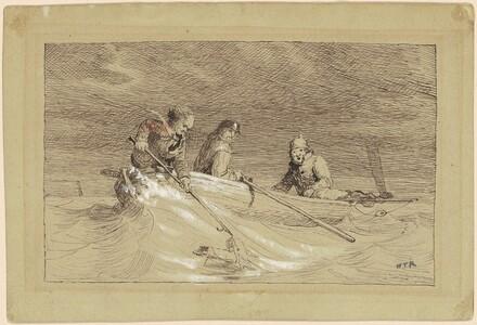Three Fisherman in a Skiff (study for Shad Fishing)
