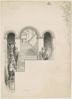 Staircase, for the 1892 Corcoran Gallery General Catalogue