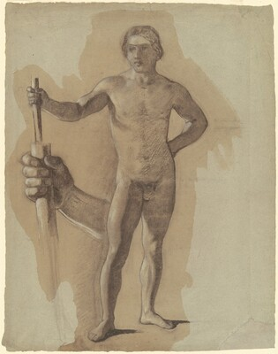 Standing Male Nude (study for The Landing of Columbus)