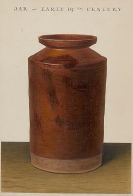 Red Glazed Preserve Jar