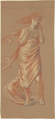 Standing Draped Female Figure, (study for Greek Girls Bathing)