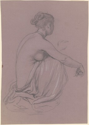 Seated Female Nude with Draped Legs, (study for Greek Girls Bathing)