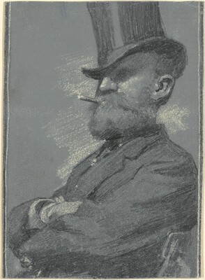 Man in Top Hat, Smoking a Cigar