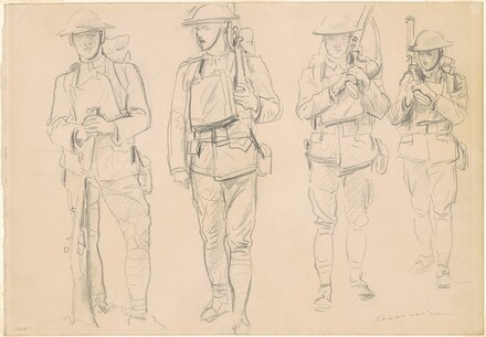 Studies for Entering the War [recto]