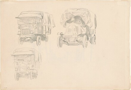 Three Covered Trucks [recto]