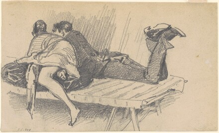Woman and Man on Cot