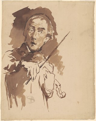 Man with Violin (study for The Toning of the Bell)