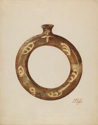 Ring-shaped Pottery Bottle