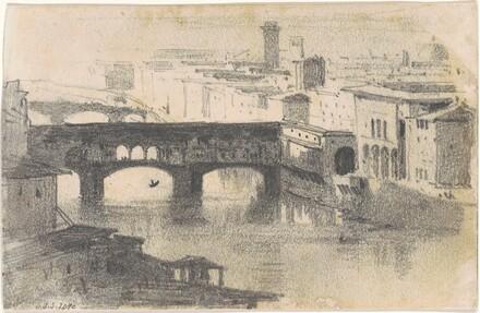 View of the Ponte Vecchio, Florence [recto]