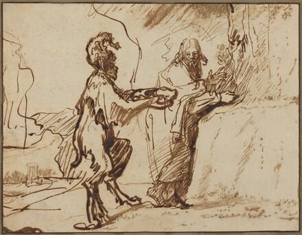 Satan Tempting Christ to Change Stones into Bread