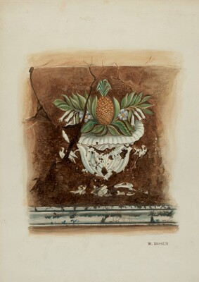 Wall Painting, Pineapple Motif