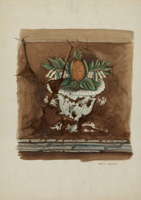 Wall Painting, Pineapple