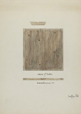 Original Wooden Shutters from Monastery