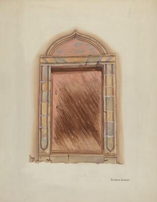Carved Stone Doorway, Mission San Carlos Borromeo