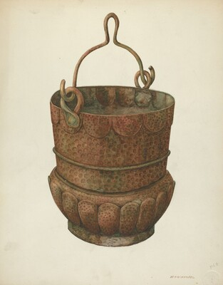 Hammered-Copper Bucket