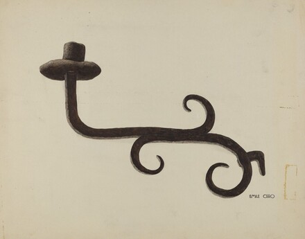 Hand Wrought Iron Candlestick