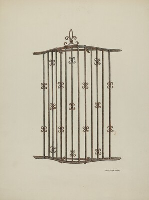 Iron Grille at Window: Restoration Drawing