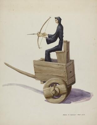 El Muerto Death Figure and Cart