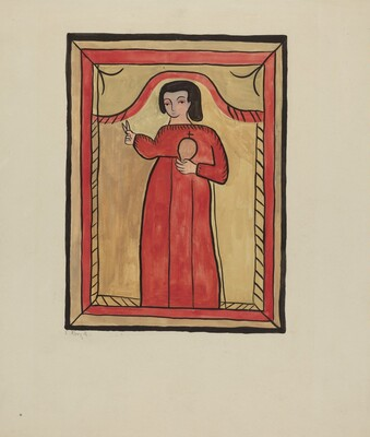 The Christ Child-Retalba El Nino Perdido, (The Lost Child) a Retabla