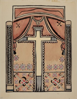 Panel - Cross and Drapes