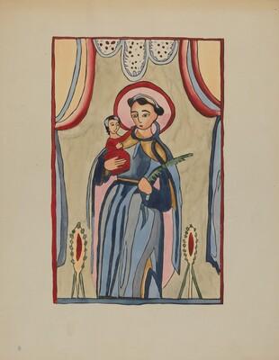 Panel from Altar Piece of San Antonio